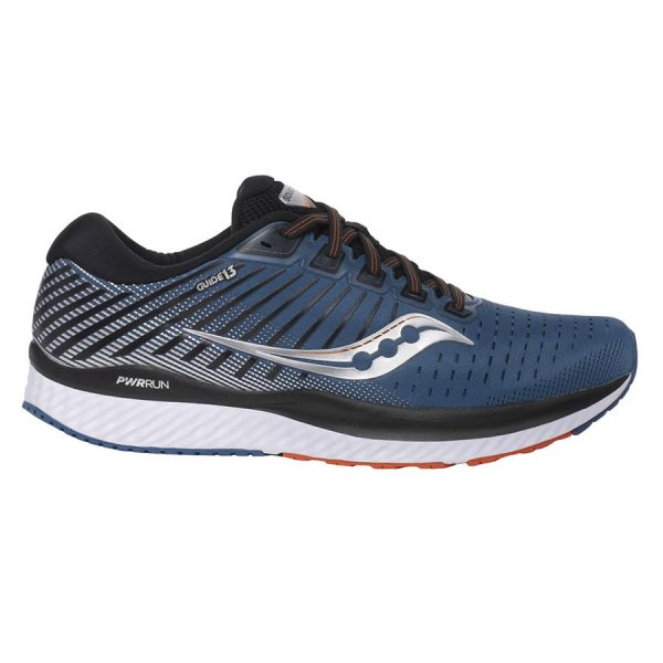 saucony guide 13 blue silver